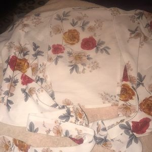 Zaful flowered crop top that ties